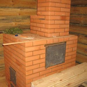печь с дымоходом для бани