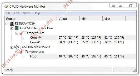 Скачать ноутбук тошиба программу температура